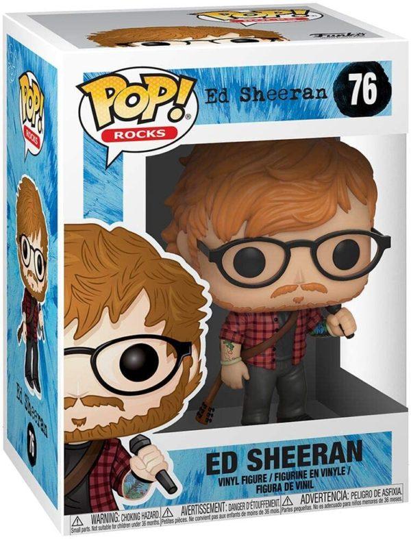 Funko Pop : Figurine du chanteur Ed Sheeran   Idées cadeaux insolites