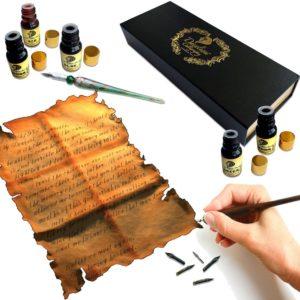 Kit de calligraphie pour apprendre l'art d'écrire   Idées cadeaux insolites