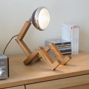 Lampe de chevet articulé en forme de bonhomme | Idées cadeaux insolites