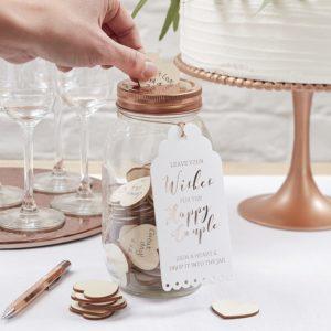 Livre d'or en forme de bocal pour les mariages | Idées cadeaux insolites