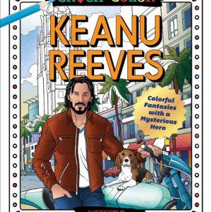 Livre de coloriage Keanu Reeves | Idées cadeaux insolites