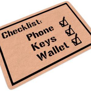 Paillasson checklist pour ne rien oublier en partant | Idées cadeaux insolites