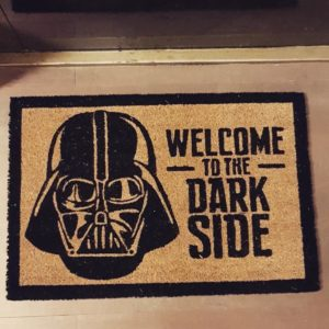 """Paillasson original Star Wars """"Welcome to the dark side"""" 