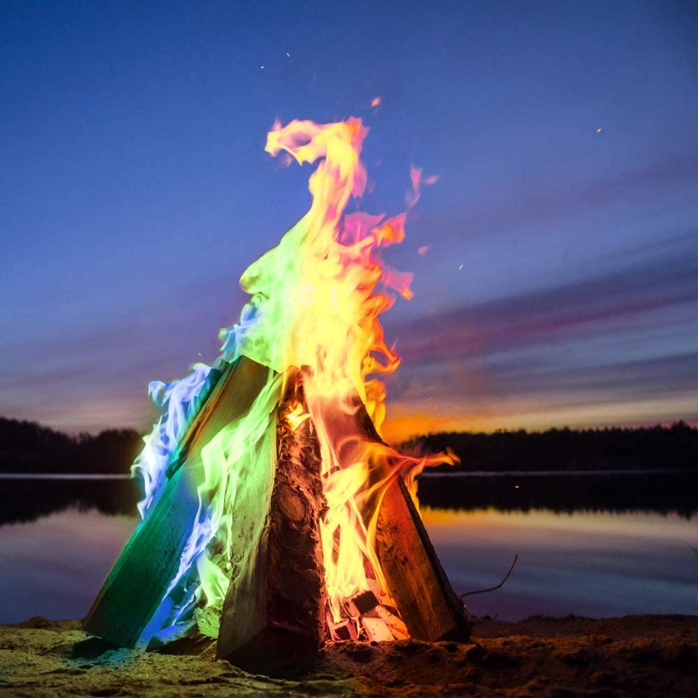 Poudre colorante pour un feu magique | Idées cadeaux originales et insolites