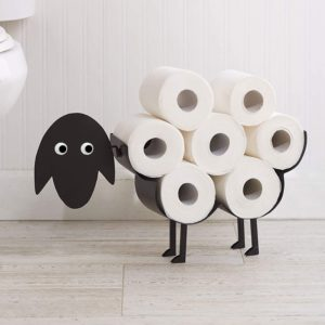 Support pour papier toilettes en forme de mouton | Idées cadeaux insolites