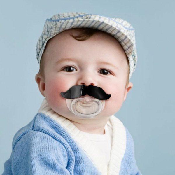 Tétine/Sucette Moustache pour bébé   Idées cadeaux insolites