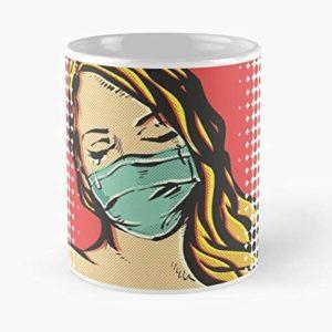 Tasse Pop Art Covid-19 | Idées cadeaux insolites