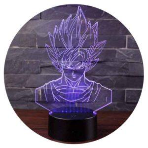 Lampe 3D Son Goku Dragon Ball Z | Idées cadeaux insolites
