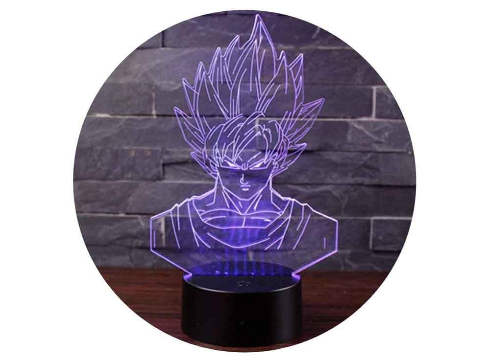 Lampe 3D Son Goku Dragon Ball Z   Idées cadeaux insolites