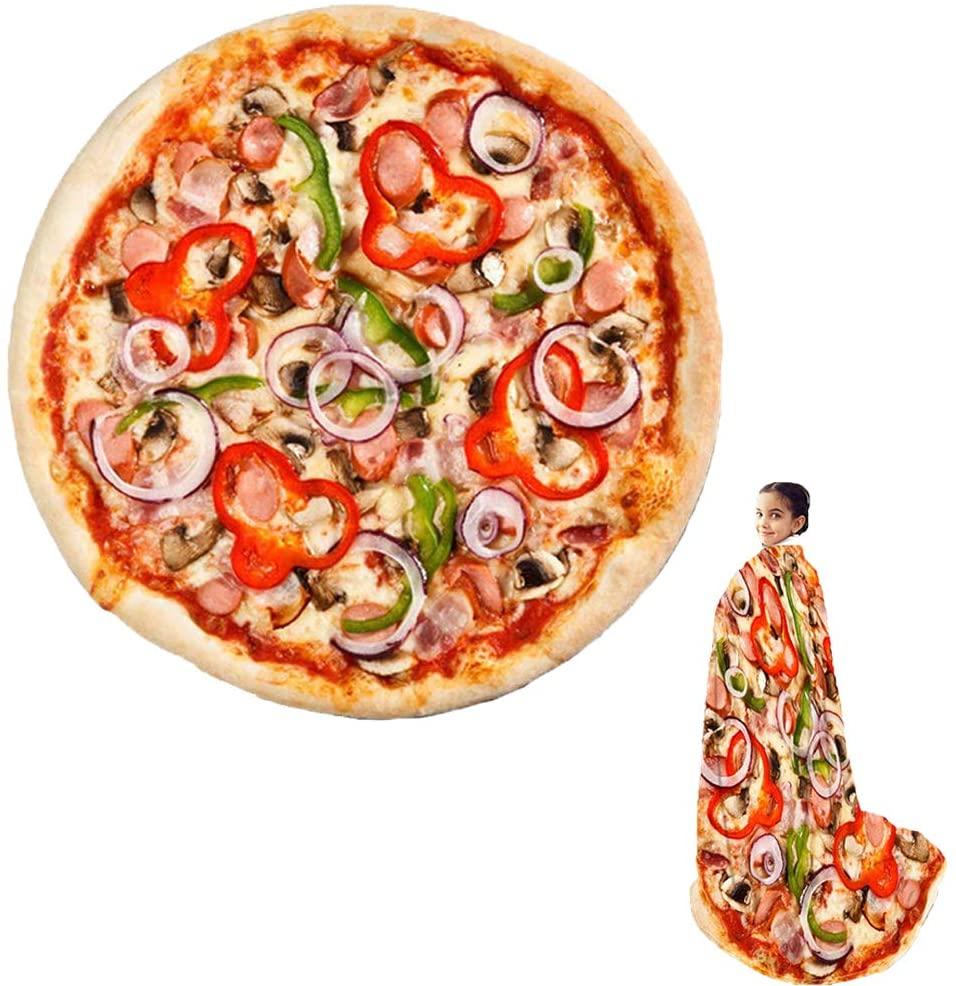 Couverture originale : enveloppez-vous dans une pizza   Idées cadeaux insolites originales