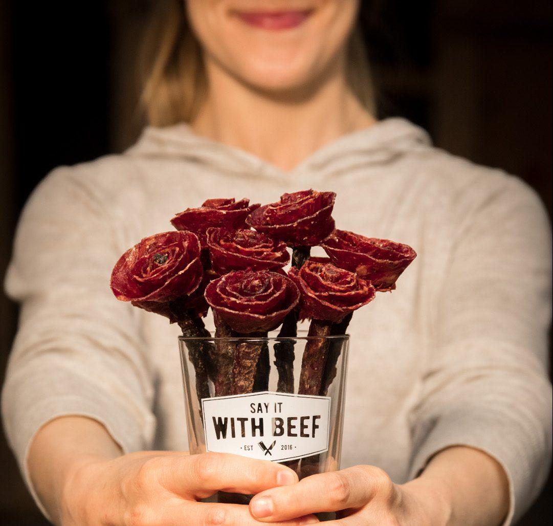 Un bouquet de viande séchée pour la Saint-Valentin | Idées cadeaux insolites et originales